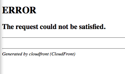 AWS cloudfront 403 error