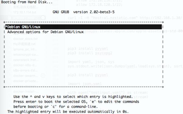 kvm下安装Debian9无法启动